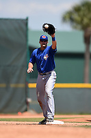 Toronto Blue Jays Matt Dean (25) during a minor league spring training game against the Pittsburgh Pirates on March 21, 2015 at Pirate City in Bradenton, Florida.  (Mike Janes/Four Seam Images)