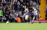 Sunday 01 September 2013<br /> Pictured: Angel Rangel (L), Graham Dorrans (R).<br /> Re: Barclay's Premier League, West Bromwich Albion v Swansea City FC at The Hawthorns, Birmingham, UK.