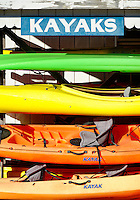 Kayak Rentals, Vineyard Haven, Martha's Vineyard, Massachusetts, USA