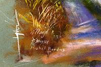 Quatre signatures pour un tableau.<br /> Galerie du rond point du Chambon