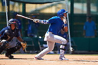 Toronto Blue Jays Freddy Rodriguez (5) during an instructional league game against the Atlanta Braves on September 30, 2015 at the ESPN Wide World of Sports Complex in Orlando, Florida.  (Mike Janes/Four Seam Images)
