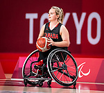 Elodie Tessier, Tokyo 2020 - Wheelchair Basketball // Basketball en fauteuil roulant.<br /> Canada takes on Germany in a women's preliminary game // Le Canada affronte le Japon dans un match préliminaire masculin. 28/08/2021.