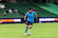 24th March 2021; HBF Park, Perth, Western Australia, Australia; A League Football, Perth Glory versus Sydney FC; Sydney FC player Paulo Retre breaks forward on the ball