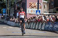 Jelle Vanendert (BEL/Lotto Soudal) with a solo win. <br /> <br /> <br /> Baloise Belgium Tour 2018<br /> Stage 4:  Wanze - Wanze 147.3km