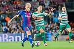 Ivan Rakitic of FC Barcelona (L) fights for the ball with Ruben Pena Jimenez of SD Eibar (R) during the La Liga 2017-18 match between FC Barcelona and SD Eibar at Camp Nou on 19 September 2017 in Barcelona, Spain. Photo by Vicens Gimenez / Power Sport Images