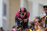 Michal Kwiatkowski (POL) Team Ineos on the 17% climb during Stage 13 of the 2019 Tour de France an individual time trial running 27.2km from Pau to Pau, France. 19th July 2019.<br /> Picture: Colin Flockton | Cyclefile<br /> All photos usage must carry mandatory copyright credit (© Cyclefile | Colin Flockton)