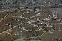 aerial photograph of the San Gregorio Pass wind farm, Riverside County, California