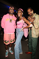 NEW YORK, NY - SEPTEMBER 11: Swizz Beatz, Winnie Harlow and Jidenna at BRIC Celebrate Brooklyn! Festival at The Lena Horne Bandshell in Prospect Park, Brooklyn, New York City on September 11, 2021. <br /> CAP/MPI/WG<br /> ©WG/MPI/Capital Pictures
