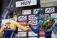 Primoz Roglic (SVN/Jumbo-Visma) finishes 2nd in his first ever Fléche appearance <br /> <br /> 85th La Flèche Wallonne 2021 (1.UWT)<br /> 1 day race from Charleroi to the Mur de Huy (BEL): 194km<br /> <br /> ©kramon