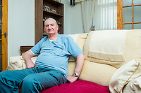 Tuesday  26 July 2014<br /> Pictured: Ronald Albert Hopkins<br /> Re: Former former coke oven worker Ronald Albert Hopkins photographed at his home in Port Talbot, Wales UK