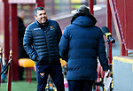 Motherwell v St Johnstone…28.11.20   Fir Park      BetFred Cup<br />St Johnstone manager Callum Davidson is interviewed by the BBC beofre kick off<br />Picture by Graeme Hart.<br />Copyright Perthshire Picture Agency<br />Tel: 01738 623350  Mobile: 07990 594431