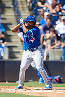 Toronto Blue Jays left fielder Teoscar Hernandez (37) at bat during a Grapefruit League Spring Training game against the New York Yankees on February 25, 2019 at George M. Steinbrenner Field in Tampa, Florida.  Yankees defeated the Blue Jays 3-0.  (Mike Janes/Four Seam Images)