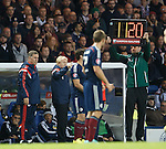 Fourth official has trouble with electronic board displaying wrong number for the Scotland subs