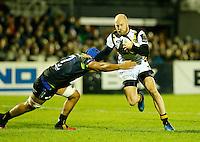 Photo: Richard Lane/Richard Lane Photography. Connacht v Wasps.  European Rugby Champions Cup. 17/12/2016. Wasps' Joe Simpson attacks.