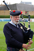 The London Scottish piper during the Championship Cup match between London Scottish Football Club and Nottingham Rugby at Richmond Athletic Ground, Richmond, United Kingdom on 28 September 2019. Photo by Carlton Myrie / PRiME Media Images