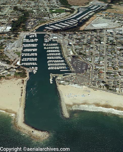 aerial photograph of the Santa Cruz small craft harbor, Santa Cruz, California