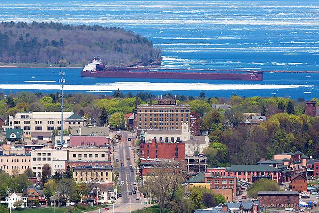 Marquette, Michigan, Mesabi Miner, May 2014, Lake Superior Ice, Spring 2014