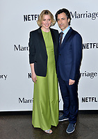 "LOS ANGELES, USA. November 06, 2019: Greta Gerwig & Noah Baumbach at the premiere for ""Marriage Story"" at the DGA Theatre.<br /> Picture: Paul Smith/Featureflash"