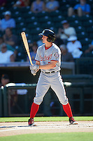 Glendale Desert Dogs Andrew Stevenson (24), of the Washington Nationals organization, during a game against the Surprise Saguaros on October 22, 2016 at Surprise Stadium in Surprise, Arizona.  Surprise defeated Glendale 10-8.  (Mike Janes/Four Seam Images)