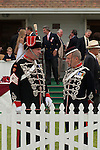 Old soldiers members of the  Honourable Artillery Company act as Gate Keepers and Greeters at the  Guards Polo Club. Windsor Great Park Egham Surrey. 2006