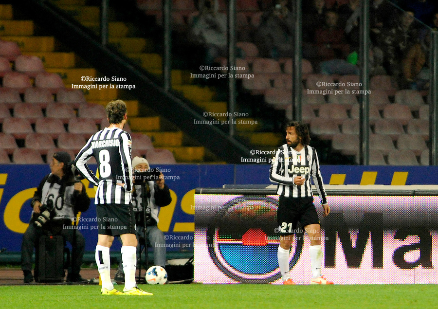 - NAPOLI 30 MAR  -  Stadio San Paolo    Napoli - Juventus<br /> pirlo si allontana dalla bandierina