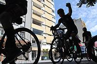 Campinas (SP), 20/02/2021 - Protesto-SP - Manifestantes realizam uma carretada contra o presidente Jair Bolsonaro (sem partido) na manhã deste sábado (20). O ato pede o afastamento do presidente e também apoio a vacina.
