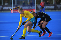 Australia's Karri Somerville in action during the Sentinel Homes Trans Tasman Series hockey match between the New Zealand Black Sticks Women and the Australian Hockeyroos at Massey University Hockey Turf in Palmerston North, New Zealand on Sunday, 30 May 2021. Photo: Dave Lintott / lintottphoto.co.nz