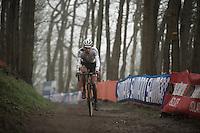 World Champion & race leader (from start to finish) Mathieu Van der Poel (NLD/BKCP-Corendon)<br /> <br /> Grand Prix Adrie van der Poel, Hoogerheide 2016<br /> UCI CX World Cup