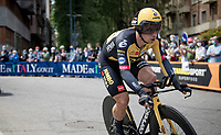 Dylan Groenewegen (NED/Jumbo-Visma) in his first race back since his 9 month ban<br /> <br /> 104th Giro d'Italia 2021 (2.UWT)<br /> Stage 1 (ITT) from Turin to Turin (8.6 km)<br /> <br /> ©kramon