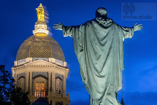 August 2, 2020; Main Quad (Photo by Matt Cashore/University of Notre Dame)