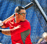 23 April 2010: Washington Nationals' shortstop Ian Desmond takes batting practice prior to a game against the Los Angeles Dodgers at Nationals Park in Washington, DC. The Nationals defeated the Dodgers 5-1 in the first game of their 3-game series. Mandatory Credit: Ed Wolfstein Photo