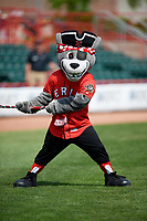 The Erie SeaWolves mascot SeaWolf during a game against the Reading Fightin Phils on May 18, 2017 at UPMC Park in Erie, Pennsylvania.  Reading defeated Erie 8-3.  (Mike Janes/Four Seam Images)