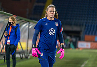 BREDA, NETHERLANDS - NOVEMBER 27: Alyssa Naeher #1 of the USWNT steps onto the field before a game between Netherlands and USWNT at Rat Verlegh Stadion on November 27, 2020 in Breda, Netherlands.