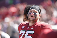 Stanford, CA - September 15, 2018: A.T. Hall during the Stanford vs UC Davis football game Saturday at Stanford Stadium.<br /> <br /> The Cardinal scored 30. UC Davis 10.