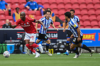 Bristol City's Benik Afobe (left) under pressure from Sheffield Wednesday's Massimo Luongo (R)<br /> <br /> Photographer David Horton/CameraSport<br /> <br /> The EFL Sky Bet Championship - Bristol City v Sheffield Wednesday - Sunday 28th June 2020 - Ashton Gate Stadium - Bristol <br /> <br /> World Copyright © 2020 CameraSport. All rights reserved. 43 Linden Ave. Countesthorpe. Leicester. England. LE8 5PG - Tel: +44 (0) 116 277 4147 - admin@camerasport.com - www.camerasport.com