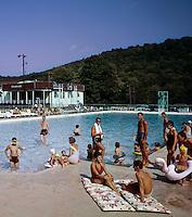 People enjoying by pool