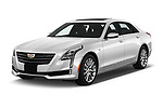 2017 Cadillac CT6 RWD 4 Door Sedan Angular Front stock photos of front three quarter view