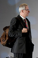 Stephane Dion, Member of Parliament for the Liberal Party of Canada, attends at the Federation of Canadian Municipalities (FCM) congress with his famous backpack in Quebec city Sunday June 1, 2008.<br /> <br /> PHOTO :  Francis Vachon - Agence Quebec Presse