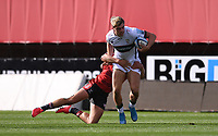 5th September 2020; Kingsholm Stadium, Gloucester, Gloucestershire, England; English Premiership Rugby, Gloucester versus London Irish; Chris Harris of Gloucester tackles Ollie Hassell-Collins of London Irish