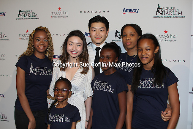 Maia and Ales Shibutani - 2016 World Silver Medalist/ 2016 National Champions - The 11th Annual Skating with the Stars Gala - a benefit gala for Figure Skating in Harlem on April 11, 2016 on Park Avenue in New York City, New York with many Olympic Skaters and Celebrities. (Photo by Sue Coflin/Max Photos)