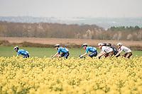 Alejandro Valverde (ESP/Movistar) & yellow canvas<br /> <br /> 85th La Flèche Wallonne 2021 (1.UWT)<br /> 1 day race from Charleroi to the Mur de Huy (BEL): 194km<br /> <br /> ©kramon