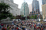 Crowds at Georgia Stage, Robson Square.