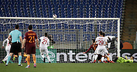 Football Soccer: Europa League Round of 16 second leg, Roma-Lyon, stadio Olimpico, Roma, Italy, March 16,  2017. <br /> Roma's Kevin Strootman scores during the Europe League football soccer match between Roma and Lyon at the Olympique stadium, March 16,  2017. <br /> Despite losing 2-1, Lyon reach the quarter finals for 5-4 aggregate win.<br /> UPDATE IMAGES PRESS/Isabella Bonotto