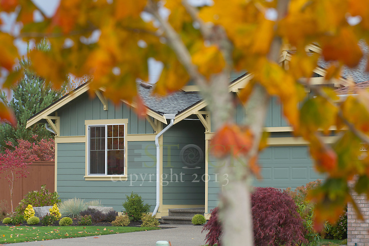 Teal exterior house