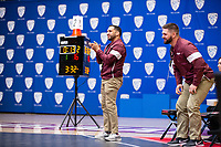 STANFORD, CA - March 7, 2020: Assistant Coach Javier Maldonado of Little Rock during the 2020 Pac-12 Wrestling Championships at Maples Pavilion.
