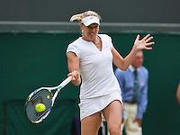 01-07-13, England, London,  AELTC, Wimbledon, Tennis, Wimbledon 2013, Day seven, Kaia Kanepi (EST)<br /> <br /> <br /> <br /> Photo: Henk Koster