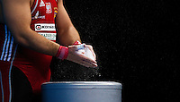 11 DEC 2011 - LONDON, GBR - Bartlomiej Bonk (POL) prepares to lift  during the men's +105kg category Snatch at the London International Weightlifting Invitational and 2012 Olympic Games test event held at the ExCel Exhibition Centre in London, Great Britain .(PHOTO (C) NIGEL FARROW)