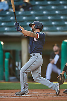 Sam Travis (12) of the Tacoma Rainiers at bat against the Salt Lake Bees at Smith's Ballpark on May 13, 2021 in Salt Lake City, Utah. The Rainiers defeated the Bees 15-5. (Stephen Smith/Four Seam Images)