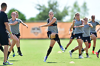 Houston, TX - Friday Oct. 07, 2016: Ali Krieger during training prior to the National Women's Soccer League (NWSL) Championship match between the Washington Spirit and the Western New York Flash at Houston Sports Park.