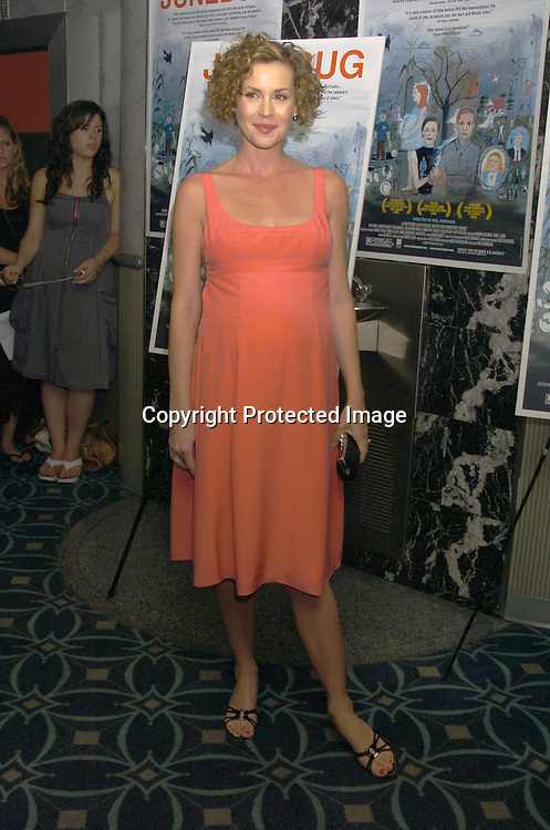 """Embeth Davidtz..at the New York Premier of """"Junebug"""" on August 1, 2005..at the Loews 19th Street Theatre. ..Photo by Robin Platzer, Twin Images"""